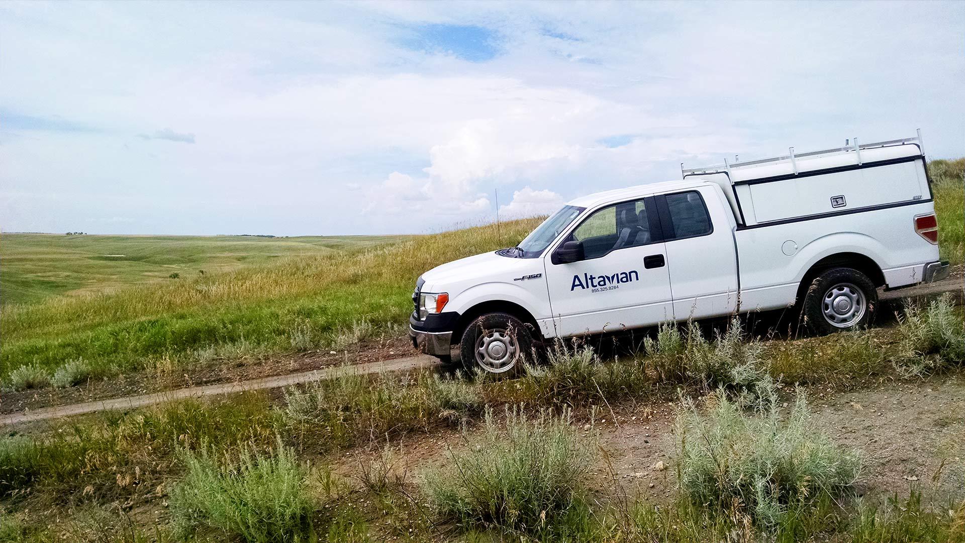 truck in field