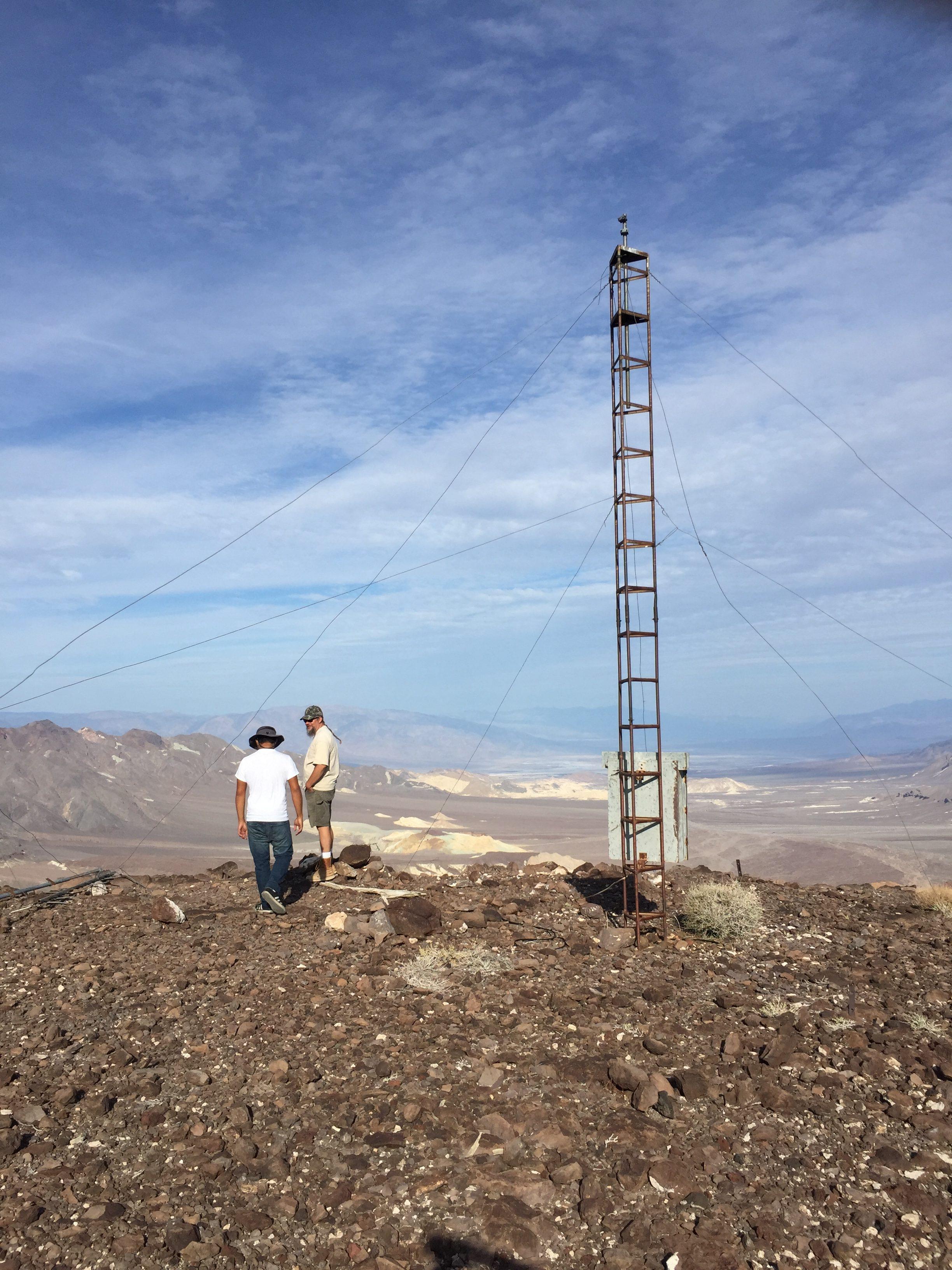 Documenting the desert terrain.
