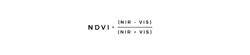 ndvi=(nir-vis)/(nir + vis)